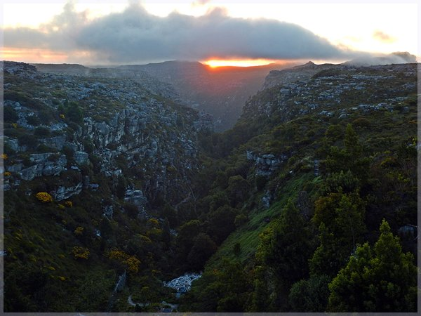 Disa Gorge at sunset from Woodhead Dam wall