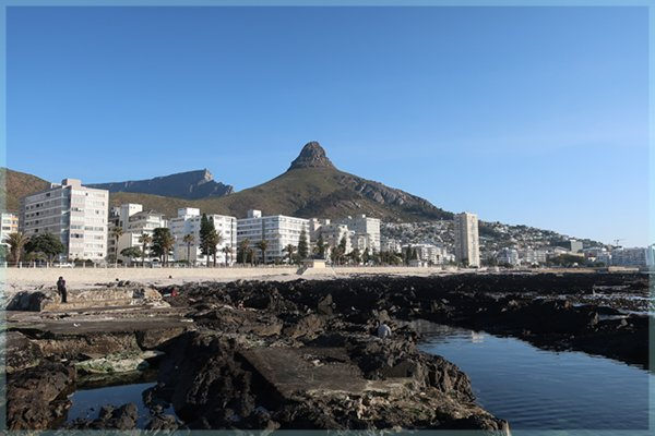 View of Signal Hill & Table Mountain from Graaf's Pool