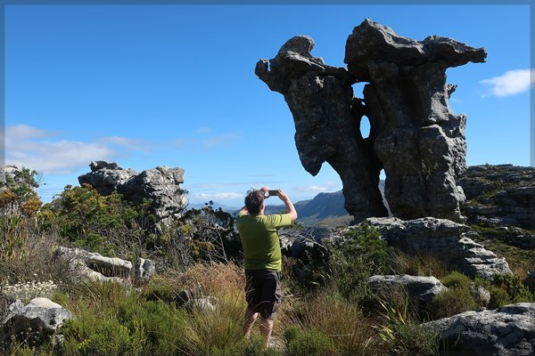Photographer shoots Camel Rock, Table Mountain