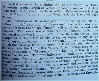 Text From contemporary newspaper article about creation of Woodhead Dam