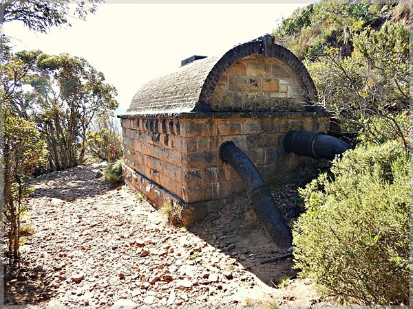 water pumping structure on Table Mountain pipe track