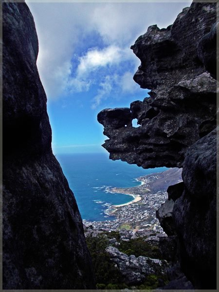 view of Camps bay from Tranquility cracks